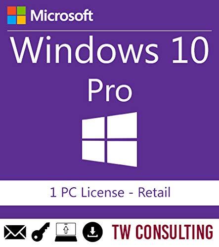 Windows 10 Professional Retail 1PC | Entrega electrónica de software Descarga versión completa de 32 y 64 bits +...