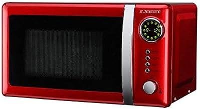 Microondas Jocel JMO001344, 20 L, 700 W, Rojo + tapa para micro gratis