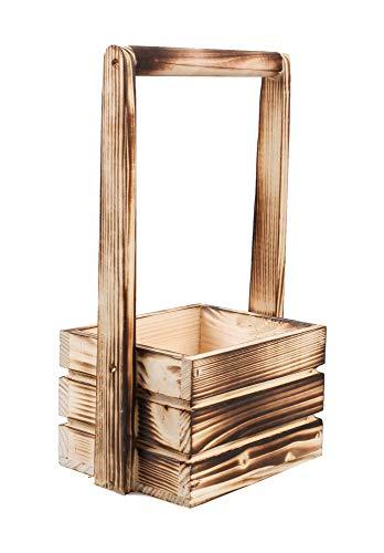 Tintours Caisse en bois avec poignée pour herbes/fleurs pour le jardin/jardin/jardinière 18 x 13 x 11/31 cm