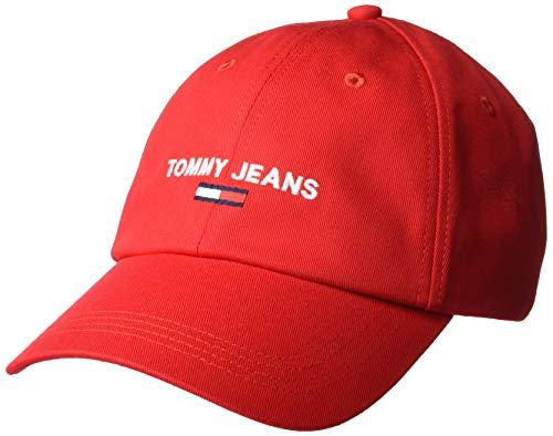 Tommy Jeans Tjw Sport Cap Gorro/Sombrero, Carmesí Prof, OS para Mujer