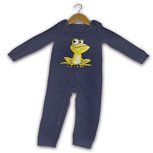 WushXiao Baby Crawler mit Cartoon-Frosch, lang, Schwarz Gr. 18 Monate, navy