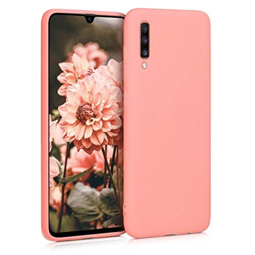 kwmobile Hülle kompatibel mit Samsung Galaxy A70 - Handyhülle - Handy Hülle in Koralle matt