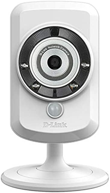 D-Link DCS-942L - Cámara WiFi y Ethernet videovigilancia (IP con Micro SD micrófono salida de audio y visión nocturna compatible con app mydlink - iOS y Android)