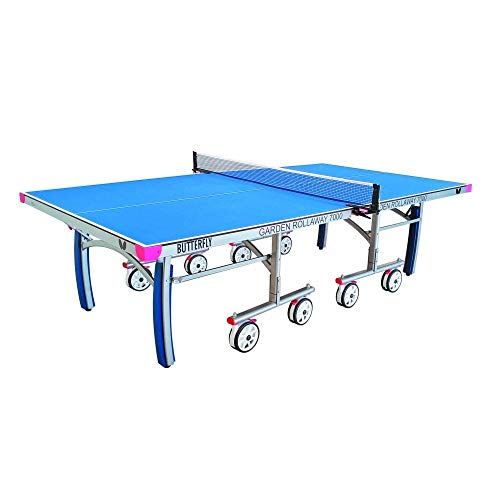 Butterfly Garden Rollaway 7000 Ping Pong Table | Outdoor Table Tennis Table...