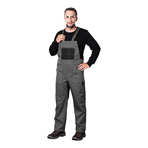 REIS MMSSB_56 Multi Master Schutzlatzhose, Grau-Schwarz, 56 Größe