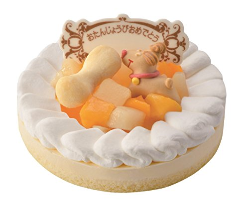ワンちゃん用 記念日 誕生日ケーキ レアチーズ(プレート付)
