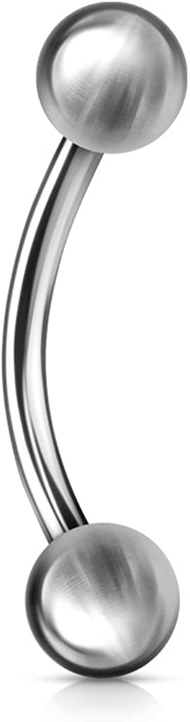 Inspiration Dezigns 12G Basic 316L Surgical Steel Curved Barbell - Sold Individually