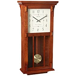 Seiko Mission Wooden Wall Clock with Chime and Pendulum