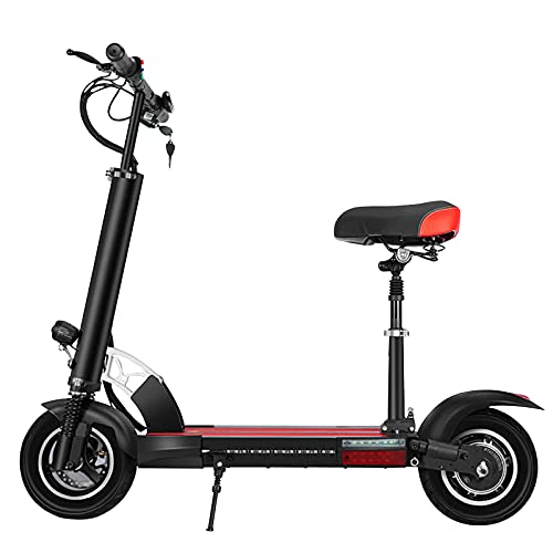 MKKYDFDJ Aluminio Plegable E-Bicicleta Doble Amortiguador,Patinete Eléctrico,30 Kilómetros/H Scooter De Doble Freno...