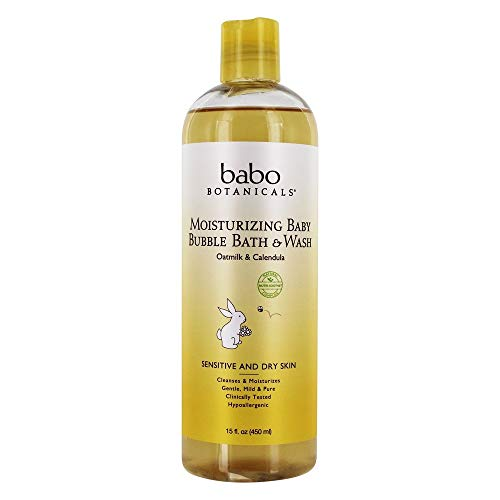 Babo Botanicals Moisturizing Baby Bubble Bath & Wash with Comforting...