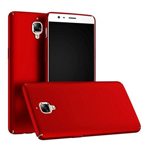 SMTR OnePlus 3 /3T Custodia, Ultra Sottile PC Back Case Protettiva Custodia per OnePlus 3 /3T Smartphone -Rosso