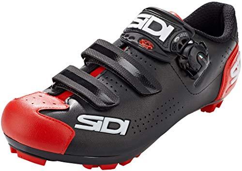 SIDI Mtb Trace 2, Scarpe da ginnastica Unisex-Adulto, Black Red, 41 EU