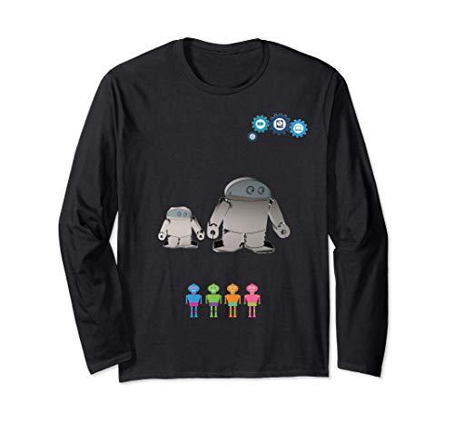 Roboter, Der Hände In Der Grauen Farbe Hält. Great Art Gift Langarmshirt