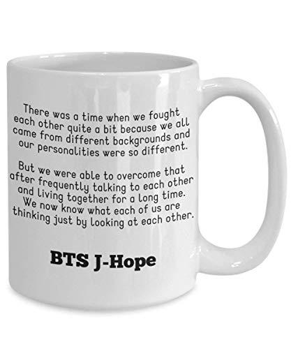 N\A Mercancía de BTS Jung Hoseok Ahora Sabemos lo Que Cada uno de Nosotros está Pensando con Solo Mirar Cada Taza de café de Bangtan Boys Lema de BTS Jhope