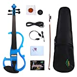 Yinfente Electric Violin 4/4 Full Size Silent Violin Solid wood With Violin Case