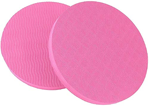 GoYonder Eco Yoga Workout Knee Pad Cushion Pink (Pack of 2)