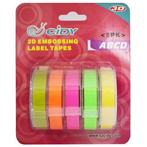Multi Farbe Label Maker Embossing Refill Tape 9mmX3M Für MOTEX Dymo Dauerhaft