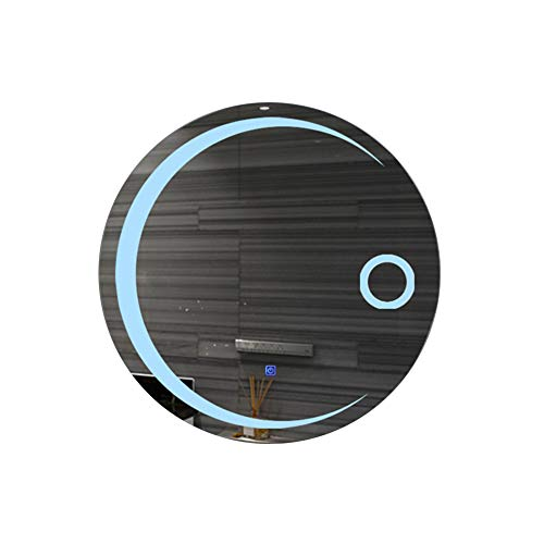 Badkamerspiegel, LED-lichtspiegel, wandmontage, verlichte cosmeticaspiegel, badkamerspiegel, rond, slim