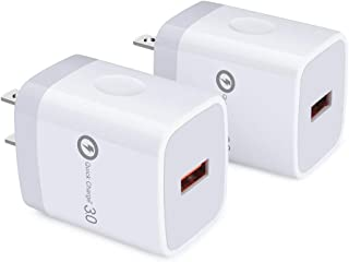 Quick Charge 3.0 Wall Charger, Hootek 2Pack 18W Fast Charging Block Brick Charger Adapter USB Plug Compatible Samsung Galaxy S10e S10 S9 S8 Plus A80 A70s A50s, Note 10+ 10 9 8 7, iPhone, iPad, LG, HTC