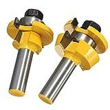 Xueliee RB11 Shaker Bevel Rail y Stile Glue Joint Router Bit para puerta de gabinete 1/2 pulgada