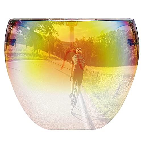Cyxus Sun Visor UV Protection Tinted Shield Cover Women Men Sports Full Face Sunglasses Mirrored Futuristic Shades Glasses