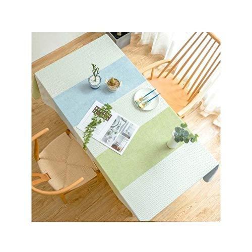 Chendunchishi groene keuken waterdicht tafelkleed gestreepte rechthoekige eettafelafdekking einde/salontafel mantel werkblad luier | tafelkleed