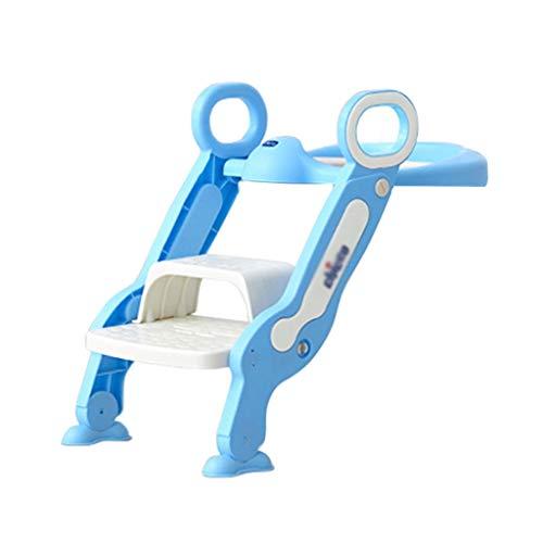 bleu-vert B/éb/é Formation Si/ège de Toilette /échelle marches pliable Enfant WC Pot /éducatif