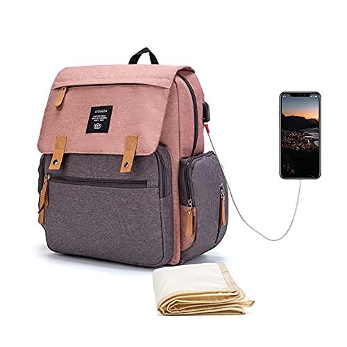 Mochila para pañales de bebé Mommy, mochila para pañales multifunción, gran capacidad, impermeable, bolsa de viaje