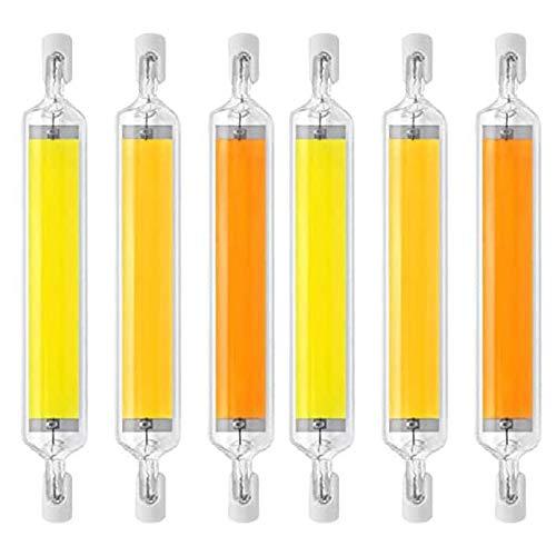 MJLXY 20W R7s LED 118Mm Dimmbar Lampe R7s LED Birne Halogen Birne 360-Grad-Licht Für Wand Tischbeleuchtung,6Stk