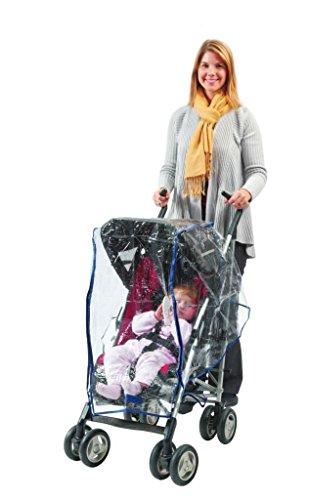 confortable bébé. Universal Effacer imperméable Housse de pluie/Vent Shield pour poussette Standard – avec fermeture Éclair à l'avant par confortable bébé