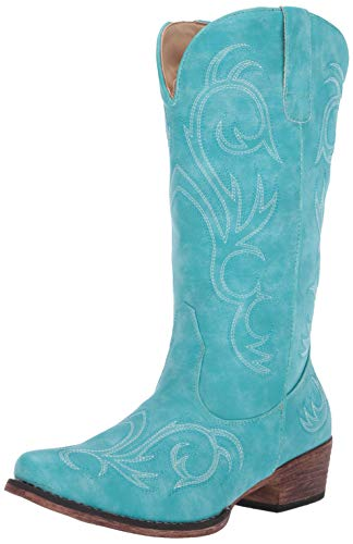 Roper Women's Riley Fashion Boot, Blue, 6.5 D US