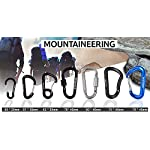 TITECOUGO Aluminum Alloy D-Ring High Strength Carabiner Key Chain Clip Hook For Camping Hiking (1,2,4,6 Pack and 11… 4