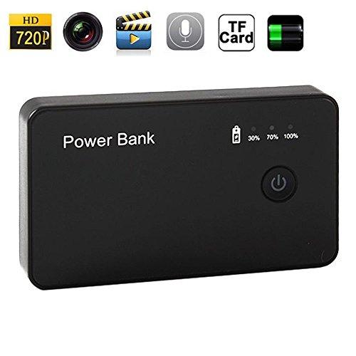 paishida 32GB Power Bank estilo oculta cámara grabadora de vídeo cámara de 5MP HD 1080P H.264Mini cámara espía con cámara 1920× 1080oculta CCTV de detección de movimiento Mini DV DVR