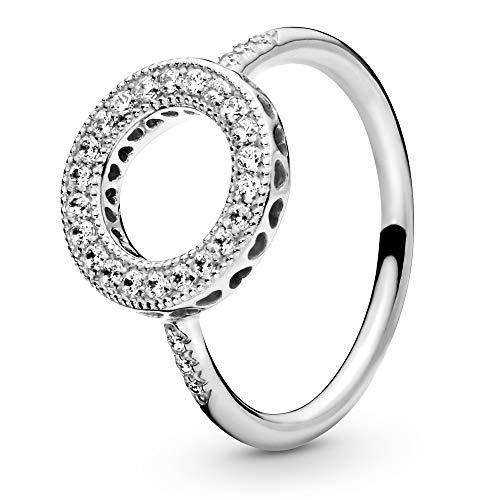 Pandora Women Silver Signet Ring - 191039CZ-52