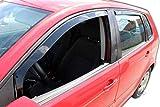 J&J AUTOMOTIVE | Deflecteurs d'air déflecteurs de Vent Compatible avec Polo 5 Portes 2002-2009 4 pièces