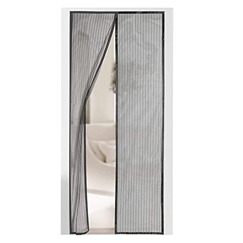 """Tormeti® Magnetic Screen Door - Self Sealing, Heavy Duty, Hands Free Mesh Partition Keeps Bugs Out - Pet and Kid Friendly - Patent Pending Keep Open Feature - 38"""" x 83"""" (39"""" x 83"""")"""