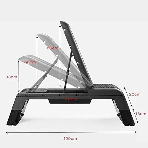 WLDOCA Step Platforms, Fitness Platform Aerobic Stepper Exercise Step Platform Dumbbell Bench Multifunctional Fitness Pedal Black Safety Non-Slip Footplates