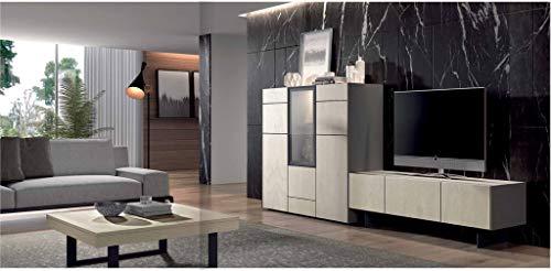 ambiato, Royal 30, design wandmeubel voor kasten, aanbouwwand, XXL, kleurkeuze, 288x130x45,2 cm, lowboard, highboard met glas