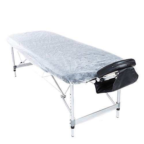 Lifesoft Disposable Fitted Massage Table Sheet Waterproof Facial Bed Cover 36 x 88 Inch