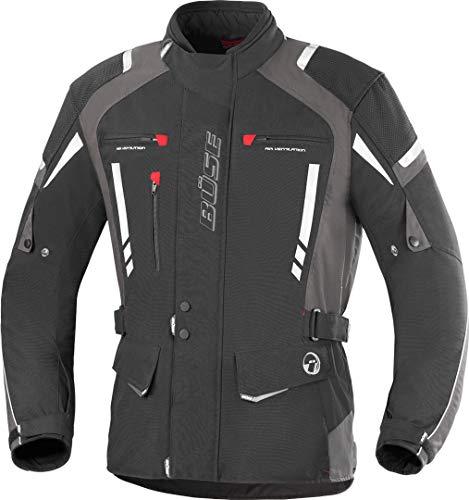 Büse Torino Pro Motorrad Textiljacke L Schwarz/Dunkelgrau