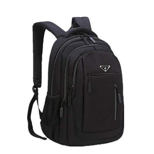 Laptop de Gran Capacidad para Hombres 15.6 Oxford Grey Solid High School Bags Teen College Student Mochila Multifuncional Mochila