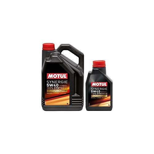 Motul - Aceite sínergia diésel 5W40 5+1L (bidón)