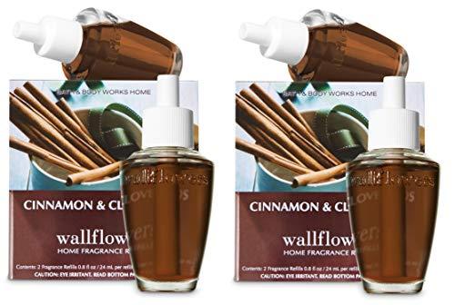 Bath & Body Works Wallflower Bulb Refills - Cinnamon & Clove Buds - FOUR bulbs!