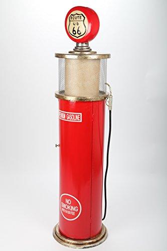point home Design-Schrank Zapfsäule mit Licht, Retro, rot, 152cm