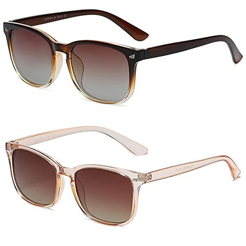 DUSHINE Polarized Sunglasses for Women Classic Retro Style 100% UV Protection