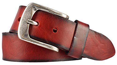 Bernd Götz Damengürtel Walkledergürtel geprägt Rot 402187-0055 Jeansgürtel Leder Gürtel Ledergürtel 95 cm
