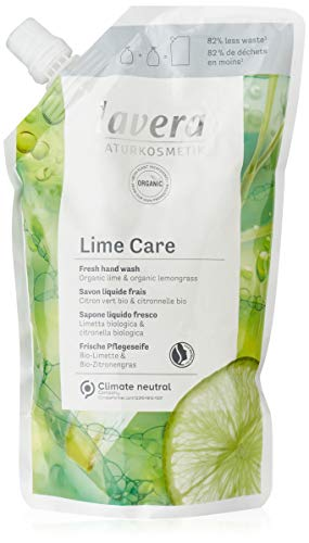 lavera Recharge Lime Care Savon Liquide • Citron Vert Bio & Citronnelle Bio • Cosmétiques Naturels • vegan • certifié • 500ml 110250