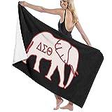 Ewtretr Toalla de Playa Delta Sigma Theta Beach Towels Ultra Absorbent Microfiber Bath Towel Picnic Mat for Men Women Kids