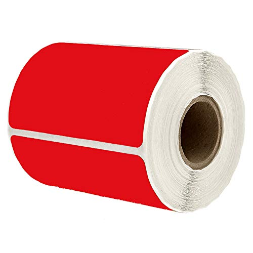 """2"""" x 3"""" Red Rectangle Color Coding Labels - Square Color-Code Stickers Permanent Adhesive, Write-On Surface - 250 Labels/per Roll"""