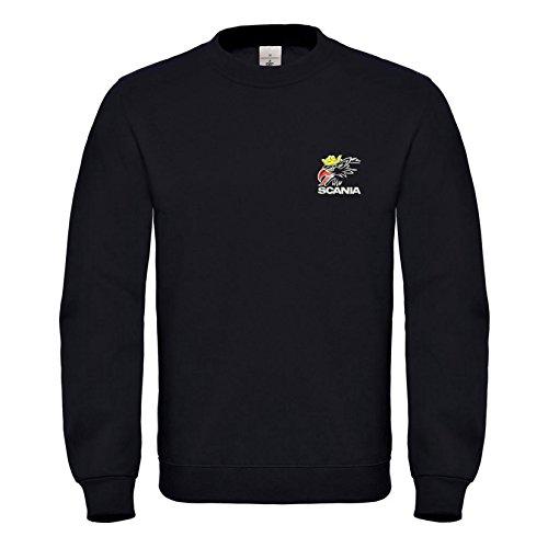 Scania Fun Bestickte Logo Sweatshirt Premium Qualität - 6114 (XL)